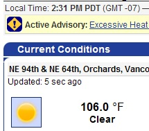 106 °F -- All time high